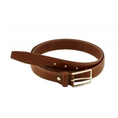 Cintura elegante uomo in pelle artigianale IFG 08004 marrone Italianfashionglam