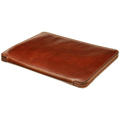 Cartella porta documenti in vera pelle Glen IFG 05940 marrone Italianfashionglam