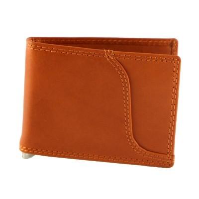 Portafogli classic da uomo in vera pelle Ginko IFG 07026 arancio Italianfashionglam