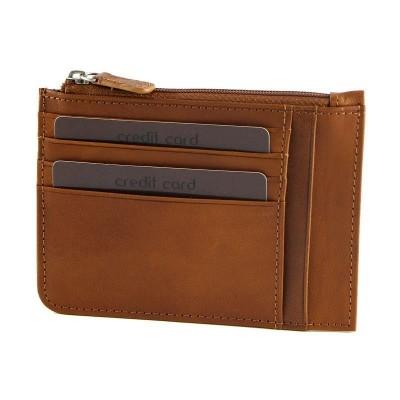 Porta carte di credito in vera pelle Albert IFG 07042 blu Italianfashionglam marrone Italianfashionglam