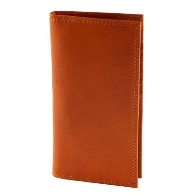 Porta carte di credito luxury in vera pelle Edy IFG 07040 arancio Italianfashionglam