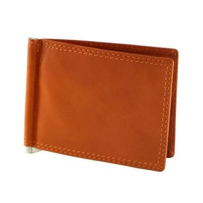 Porta carte di credito chic in vera pelle Nik IFG 07025 arancio Italianfashionglam