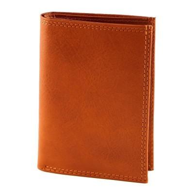 Portafogli luxury da uomo in vera pelle Leon IFG 07021 arancio Italianfashionglam