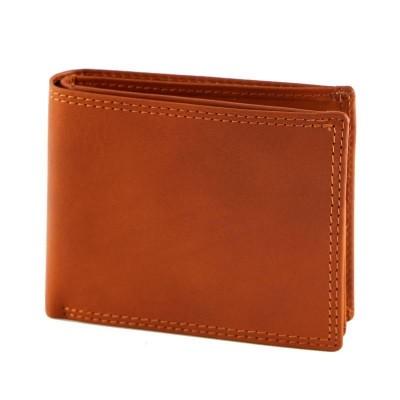 Portafogli da uomo classico in vera pelle Edge IFG 07015 arancio Italianfashionglam