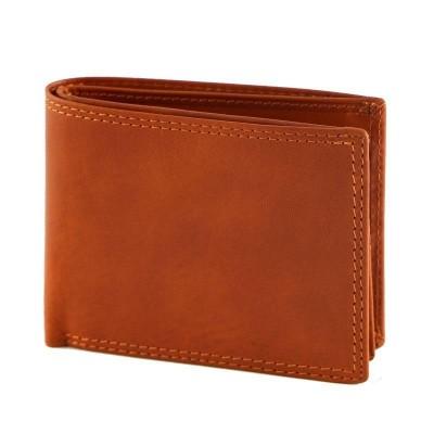 Portafogli trendy da uomo in vera pelle Sean IFG 07012 arancio Italianfashionglam
