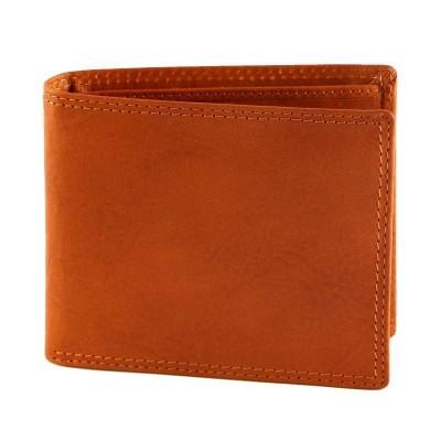 Portafogli da uomo in vera pelle classic Islero IFG 07011 arancio Italianfashionglam