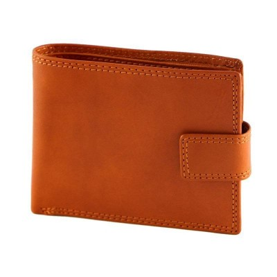 Portafogli classico da uomo in vera pelle Zetan IFG 07010 arancio Italianfashionglam