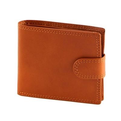 Portafogli luxury da uomo in vera pelle Stelth IFG 07009 arancio Italianfashionglam