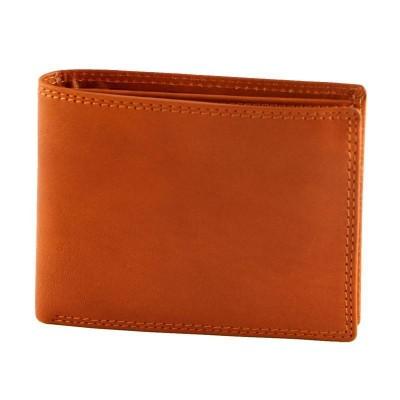Portafogli luxury da uomo in vera pelle Smith IFG 07008 arancio Italianfashionglam