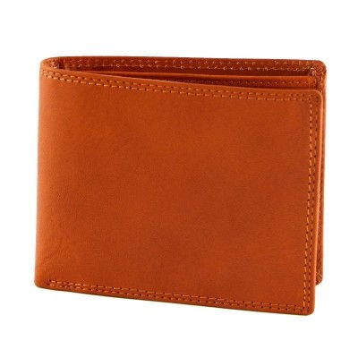 Portafogli da uomo in vera pelle luxury Icon IFG 07004 arancio Italianfashionglam