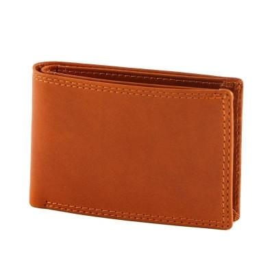 Portafogli da uomo in vera pelle classic Ethon IFG 07003 arancio Italianfashionglam