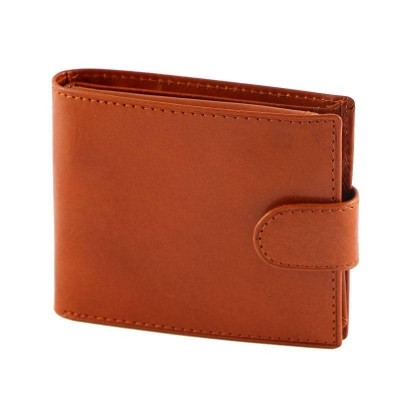 Portafogli classic da uomo in vera pelle Gentle IFG 07063 arancio Italianfashionglam