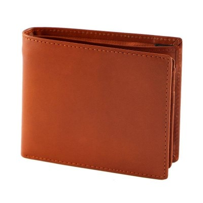 Portafogli da uomo in vera pelle luxury arancio Ronny IFG 07055 Italianfashionglam