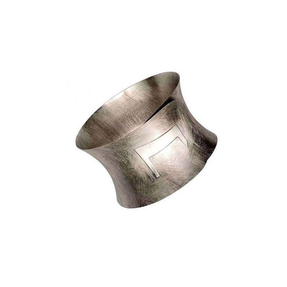 Bracciale donna alla schiava in argento rodiato BR 006 Italianfashionglam