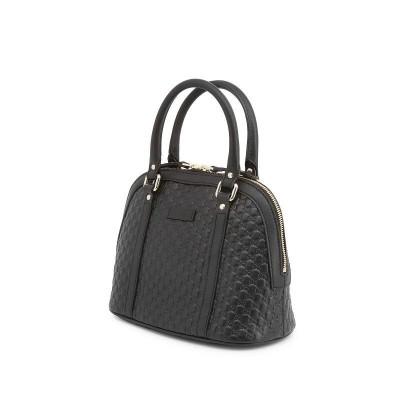 Gucci borsa a mano chic in pelle nera Guccissima - Italianfashionglam