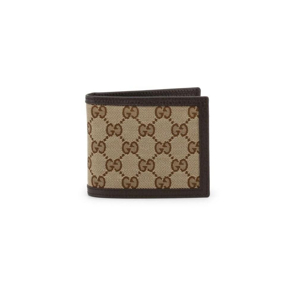 Gucci portafoglio luxuri uomo in vera pelle marrone - Italianfashionglam