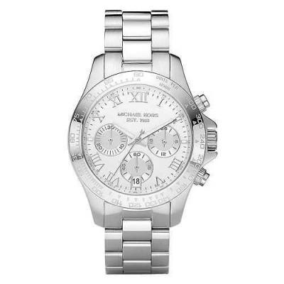 Cronografo trendy Michael Kors argento donna Layton MK5454-Italianfashionglam
