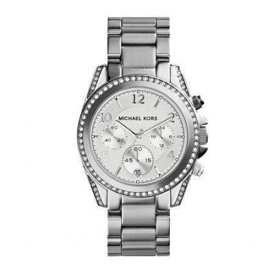 Cronografo glamour Michael Kors silver donna Blair MK5165-Italianfashionglam