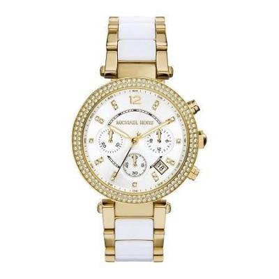 Cronografo elegante Michael Kors donna gold Parker MK6119 Italianfashionglam