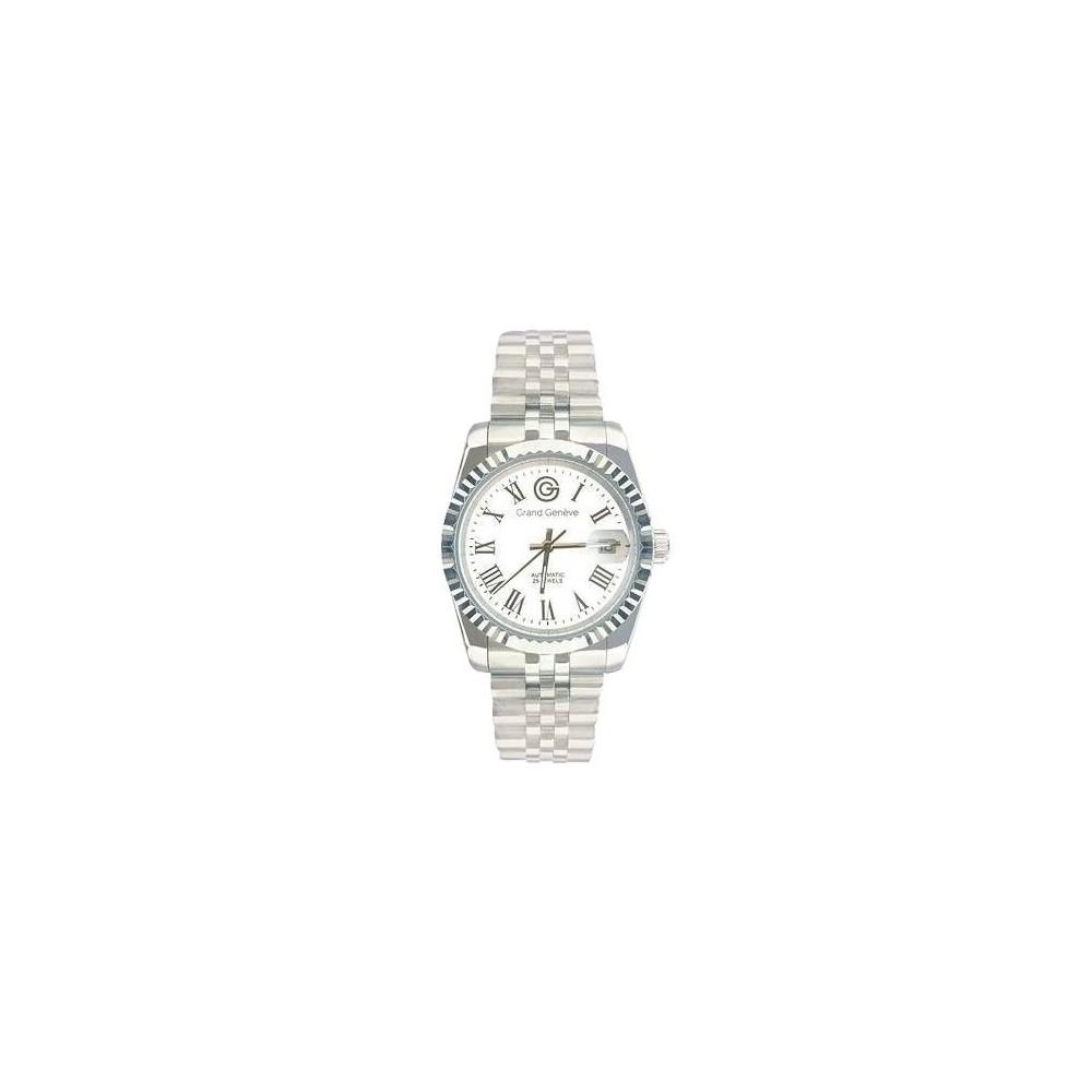 Orologio automatico unisex in acciaio argentato Grand Geneve BP240160 - Italianfashionglam