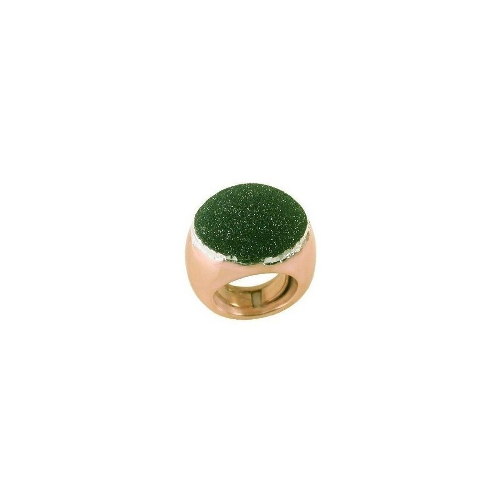 Anello luxury artigianale da donna in argento rose gold-Italianfashionglam