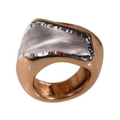 Anello glam donna artigianale in argento dorato satinato-Italianfashionglam