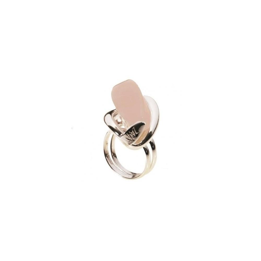 Anello donna in argento al quarzo rosa AN 007 Italianfashionglam