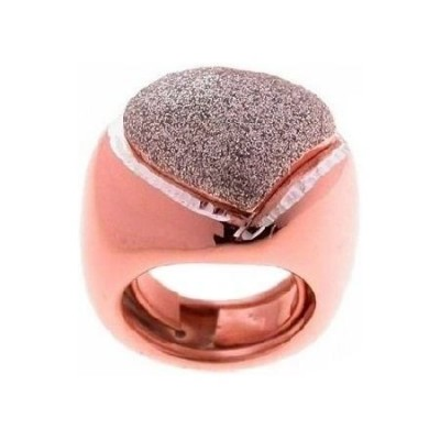 Anello trendy da donna in argento rose gold glitter- Italianfashionglam