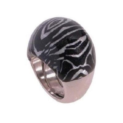Anello donna in argento smaltato a zebra An 019 Italianfashionglam- 1