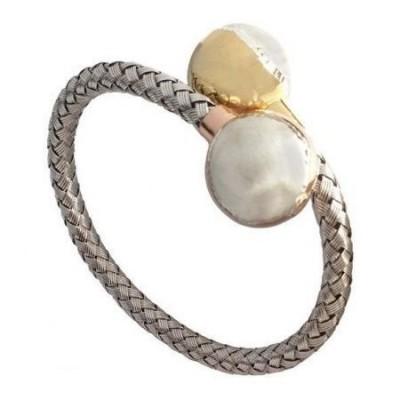 Bracciale glam donna a sfere in argento dorato BR 016 Italianfashionglam-1