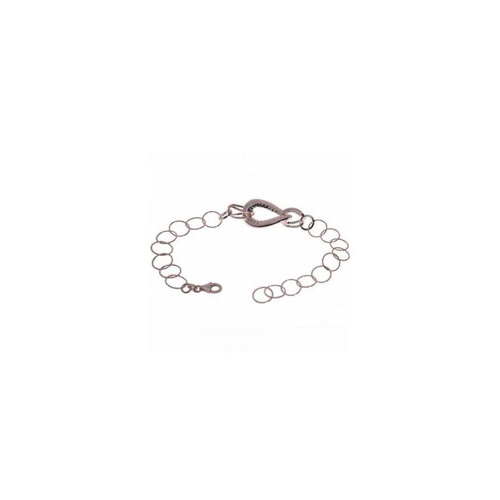 Bracciale donna in argento a catenelle e ovale BR 019 Italianfashionglam
