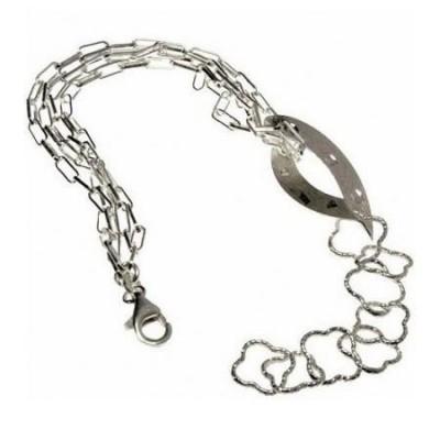 Bracciale donna in argento maglia quadrifoglio BR 023 Italianfashionglam
