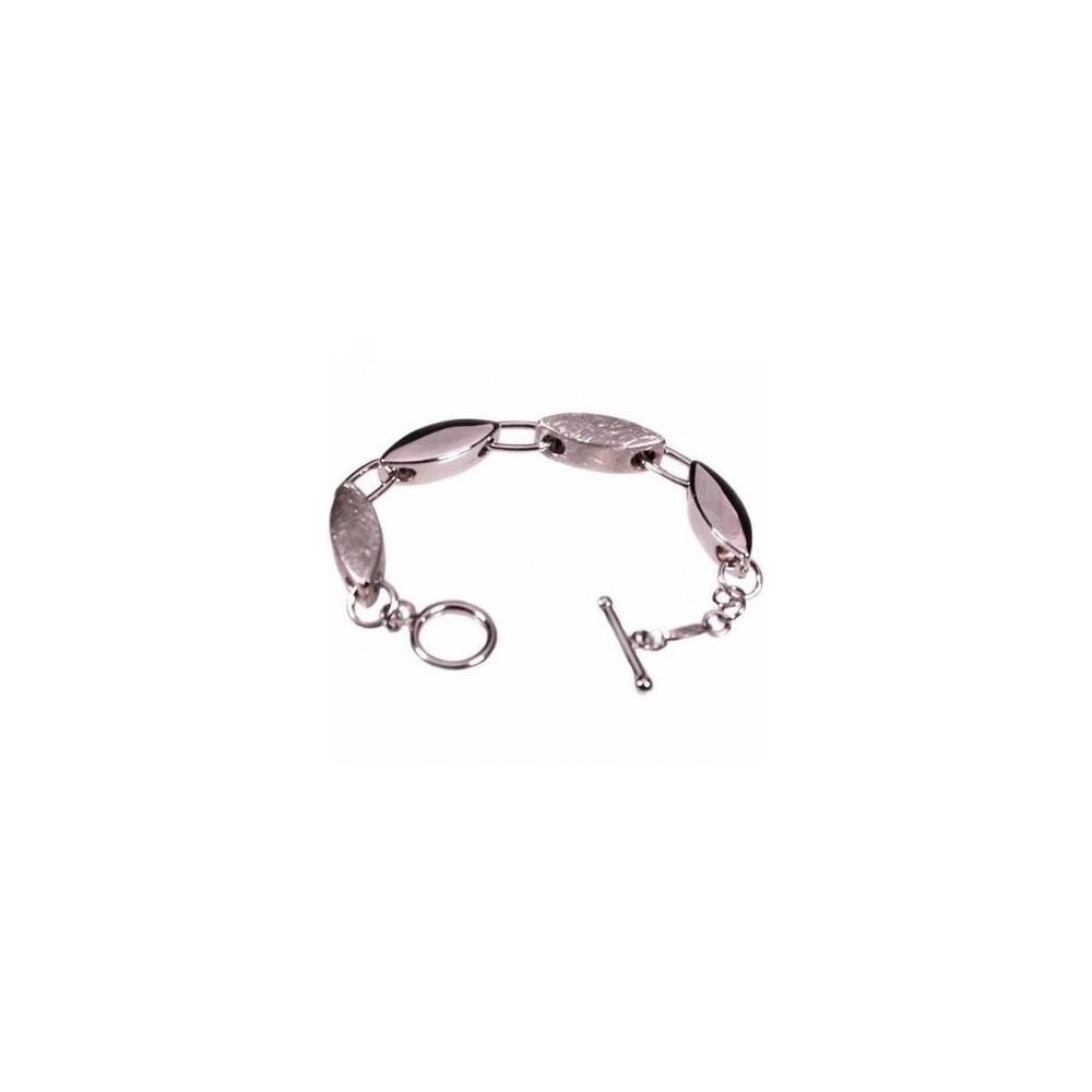 Bracciale glam donna in argento con figure ovali BR 031 Italianfashionglam