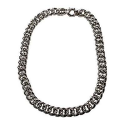 Collana luxury da donna in argento a maglia grumetta-Italianfashionglam - 1
