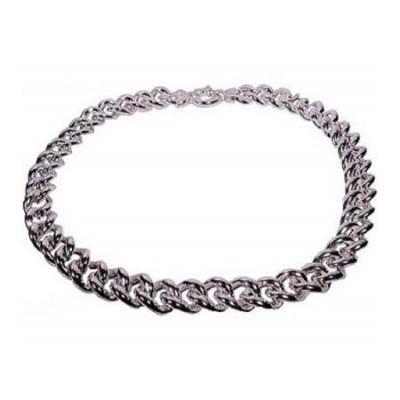 Collana luxury da donna in argento a maglia grumetta-Italianfashionglam