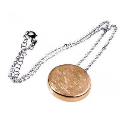 Collana fashion da donna in argento con pendente gold - Italianfashionglam