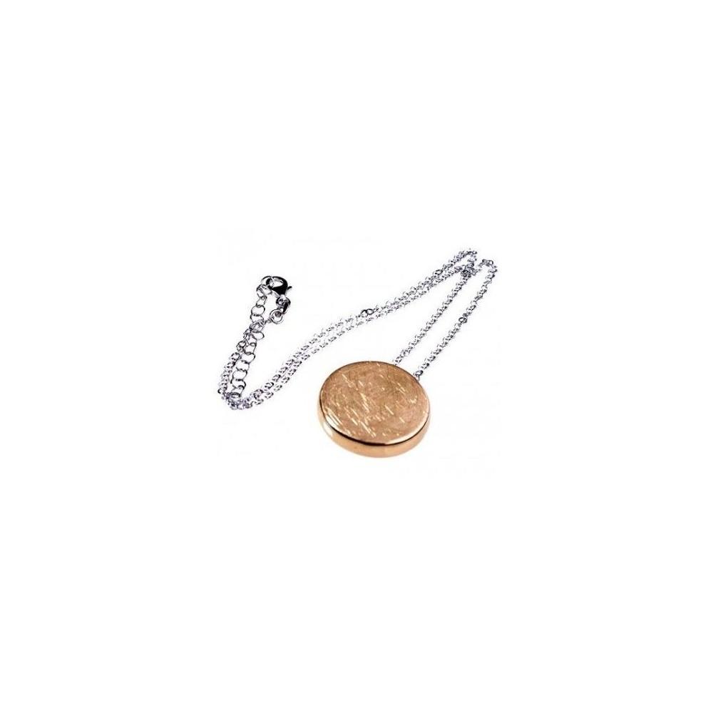 Collana fashion da donna in argento con pendente gold - Italianfashionglam