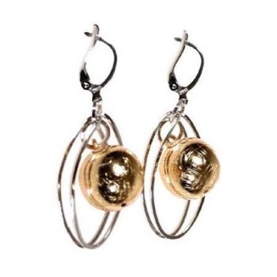 Orecchini fashion donna con pendenti in argento dorato Italianfashionglam