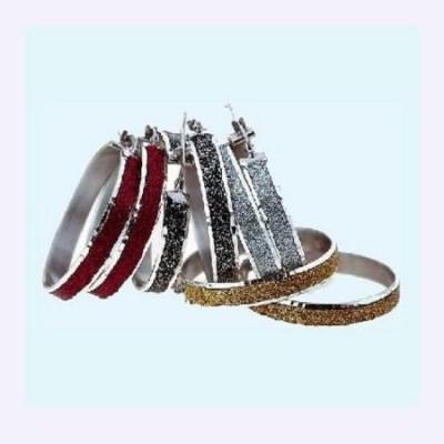 Orecchini glamour da donna in argento smaltato glitter - Italianfashionglam
