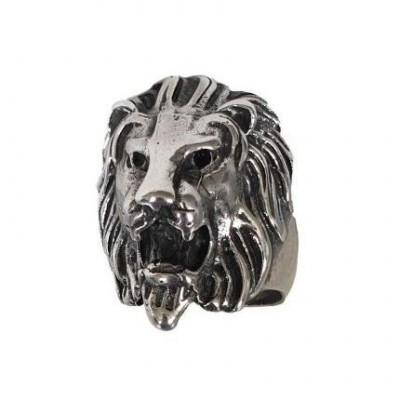 Anello uomo vintage fatto a mano in argento Lion - Italianfashionglam