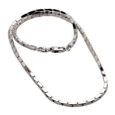 Collana fashion uomo in argento maglia quadra COU 001 Italianfashionglam