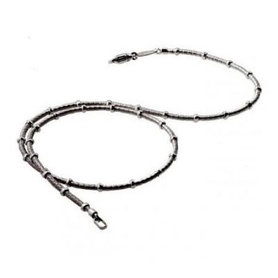 Collana chic uomo a filo e anellini in argento COU 002 Italianfashionglam
