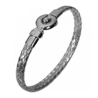 Bracciale fashion uomo in argento intrecciato BRU 018 Italianfashionglam