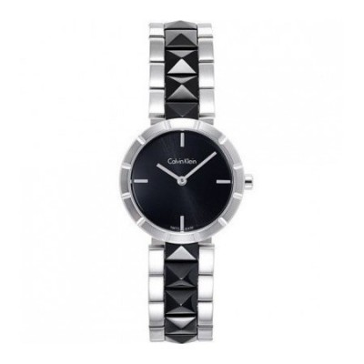 Calvin Klein ceramic orologio da donna Rockstud K5T33C41 Italianfashionglam