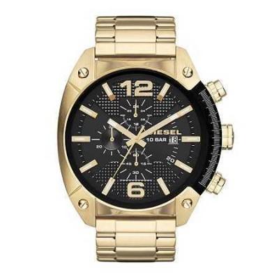 Cronografo Diesel elegante uomo gold Overflow DZ4342-Italianfashionglam