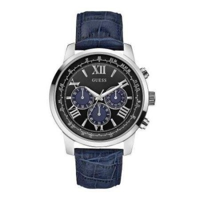 Guess Horizon cronografo glam uomo argentato W0380G3-Italianfashionglam
