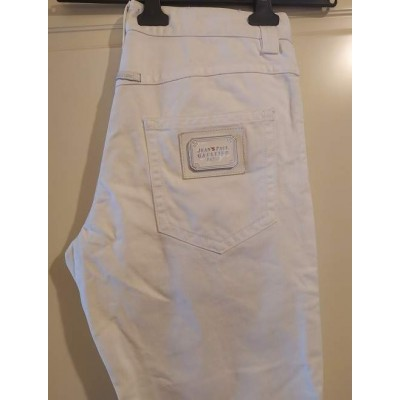 Jean Paul Gaultier white jeans donna 5 tasche - BJD 094 - Italianfashionglam