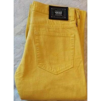 Versace Couture Jeans giallo da uomo 5 tasche - BJU 006 Italianfashionglam