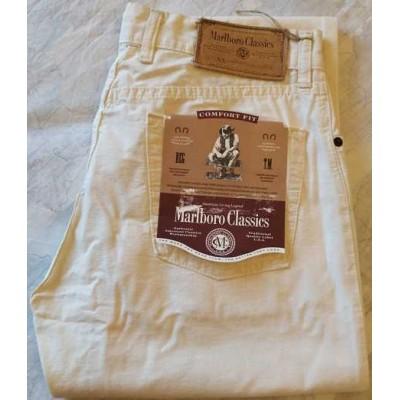 Marlboro Classics white Jeans da uomo in lino - BJU 019 Italianfashionglam
