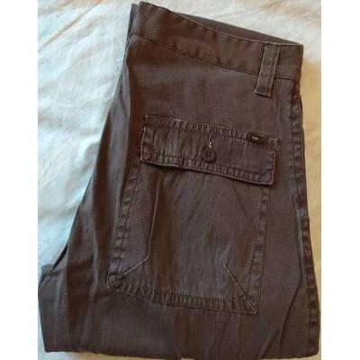 Oxer pantalone casual uomo in cotone brown - PTU 005 Italianfashionglam